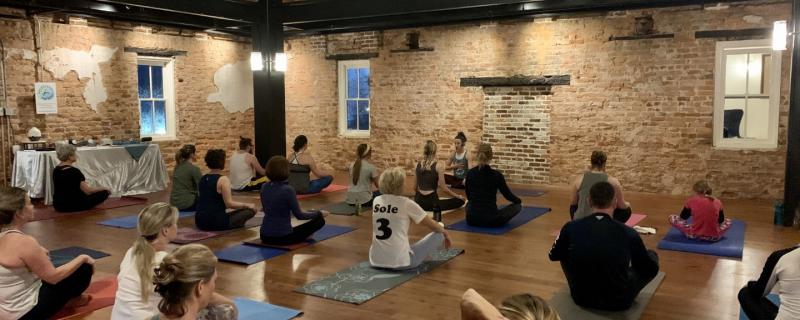 Yoga with Backbends and Brews Hosted at The Cowan Historic Mill